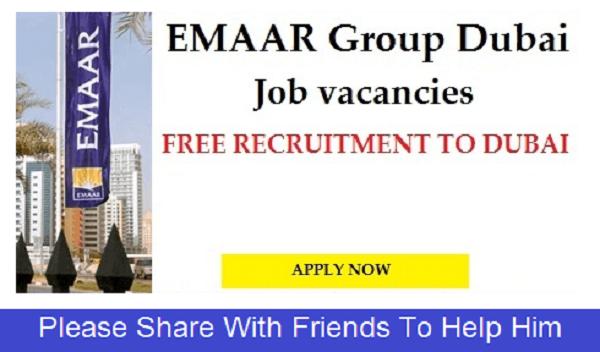 Job at Emmar Group Dubai 2017