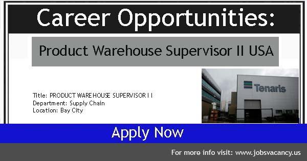 Warehouse Supervisor Vacancies
