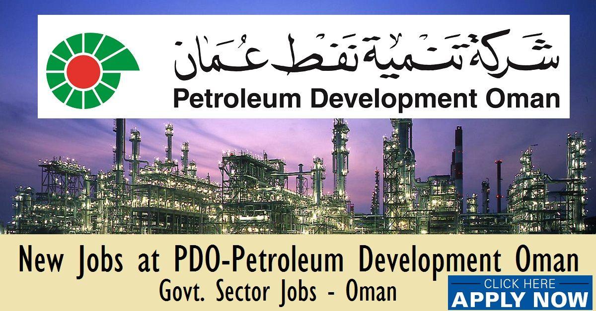 Jobs in Oman Oil Company