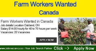 Farm Workers Wanted in Canada