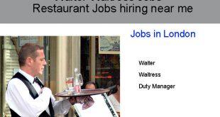 Waiter Waitress Jobs - Restaurant Jobs hiring near me