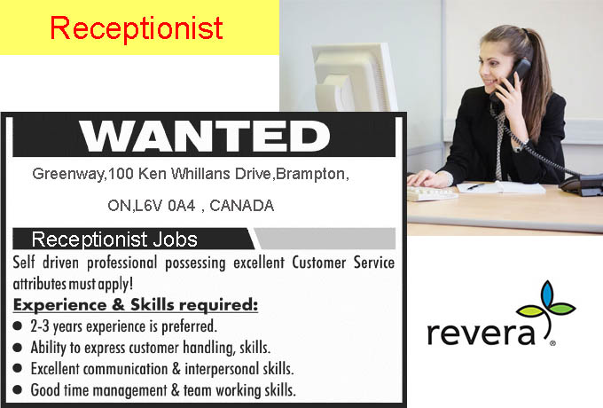 Receptionist Jobs Near Me Full Time | Part time - Canada