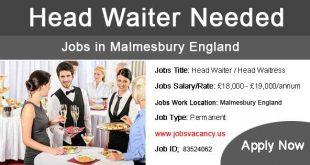 Head Waiter Jobs in Malmesbury England